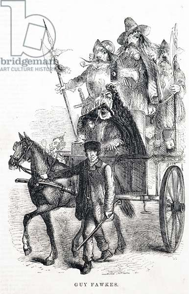 Guy Fawkes being drawn through the streets of London