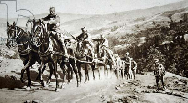 Serbian artillery withdraw, 1915