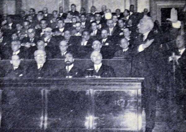 Spanish civil war: Alcala Zamora in his inaugural speech