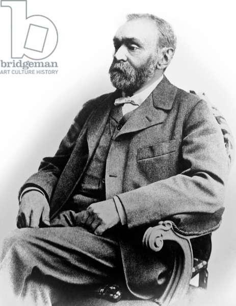 Portrait Of Alfred Nobel, World, c.1893  (b/w photo)