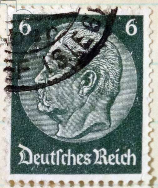 German Postage stamp depicting President Paul Von Hindenburg