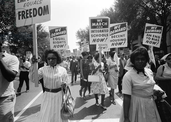 March On Washington, Washington, D.C., August 28, 1963 (b/w photo)