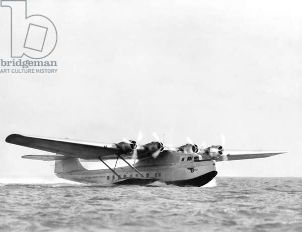 China Clipper Seaplane, Alameda, California, November 11, 1935 (b/w photo)