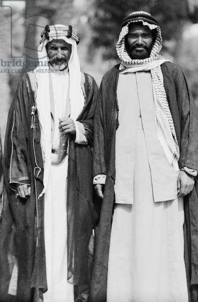 Arab Sheiks At Baghdad Palace, Baghdad, Iraq, October 6, 1932 (b/w photo)