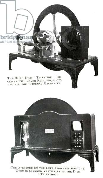 Photograph of John Logie Baird's disc model televisor