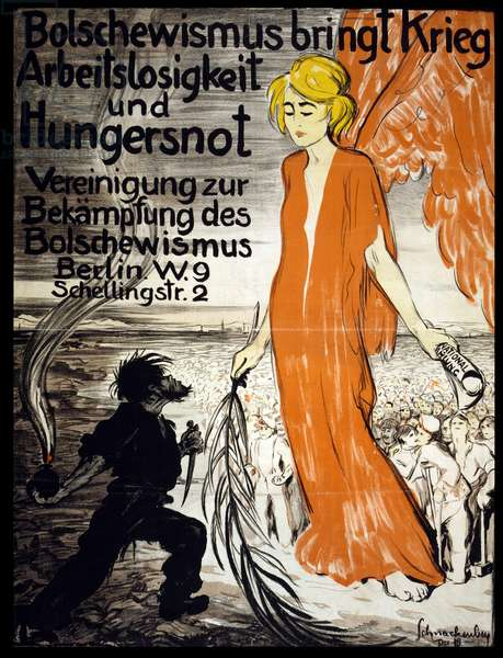 World War One German anti-communist poster