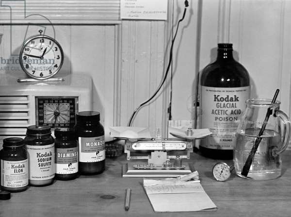 Darkroom Ingredients (b/w photo)