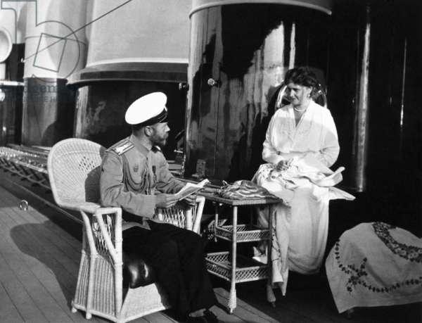 The Royal Couple of Russia, Tsar Nicholas Ll and Tsarina Alexandra Fyodorovna Aboard the Royal Yacht.