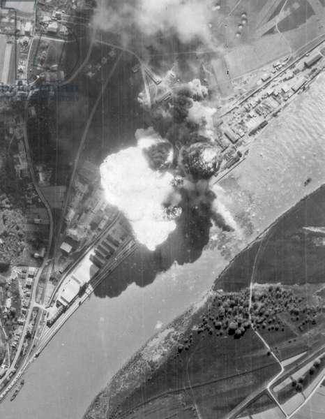 World War Two, oil tank explosion