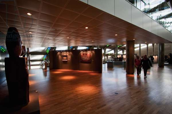Exhibit of Arabic Calligraphy on Display in the Bibliotheca Alexandrina, the Modern Library of Alexandria, Alexandria, Al Iskandar (photo)