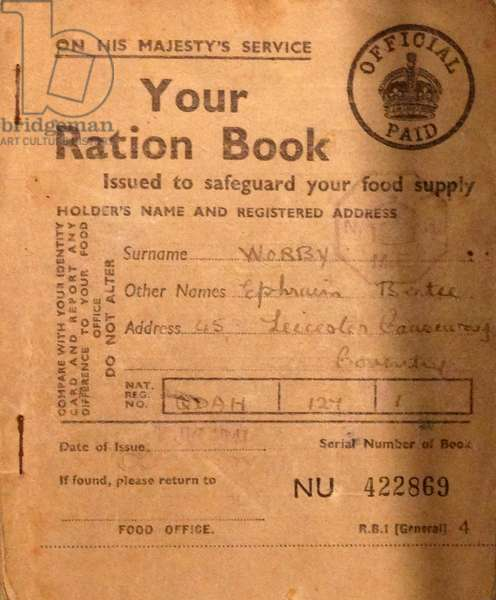 Ration book, 1941
