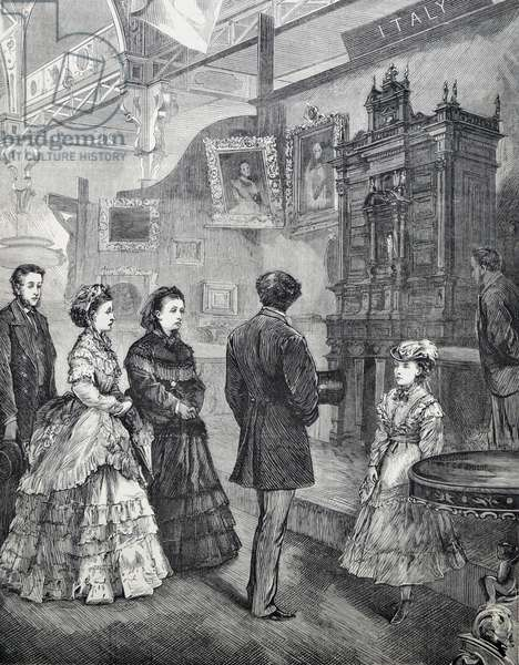 Visit of Queen Victoria, 1870 (engraving)
