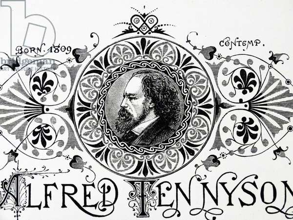 Engraved portrait of Alfred Lord Tennyson