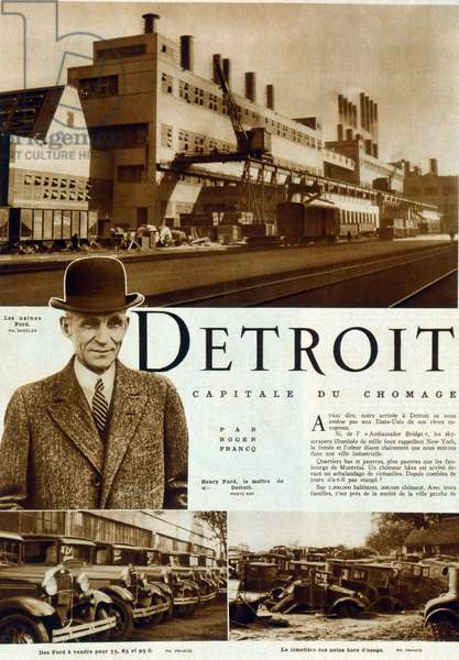 Magazine feature on Henry Ford and the Detroit car Industry