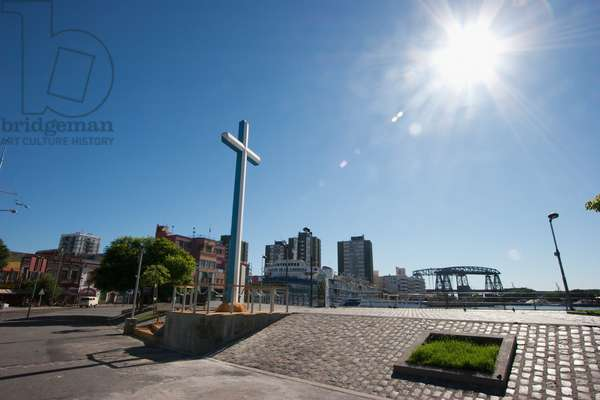 Cross in Vuelta De Rocha in Barrio La Boca, Buenos Aires, Capital Federal, Argentina (photo)