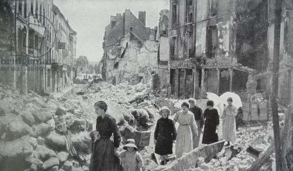 Civilians after the Battle of Château-Thierry, 1918