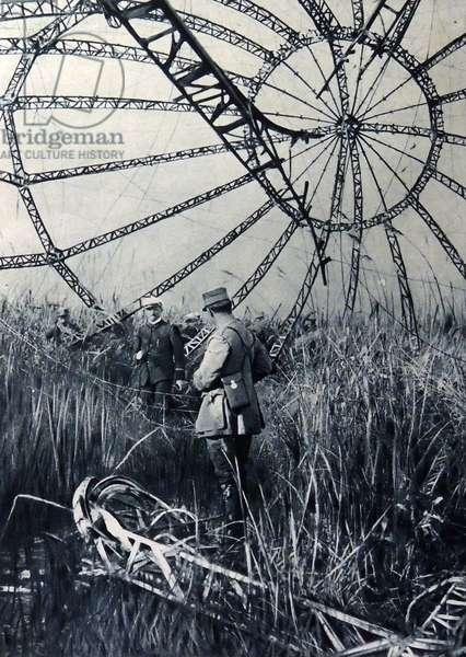 Framework of Zeppelin shot down in the Vardar Marshes