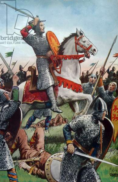 William the Conqueror at the Battle of Hastings.