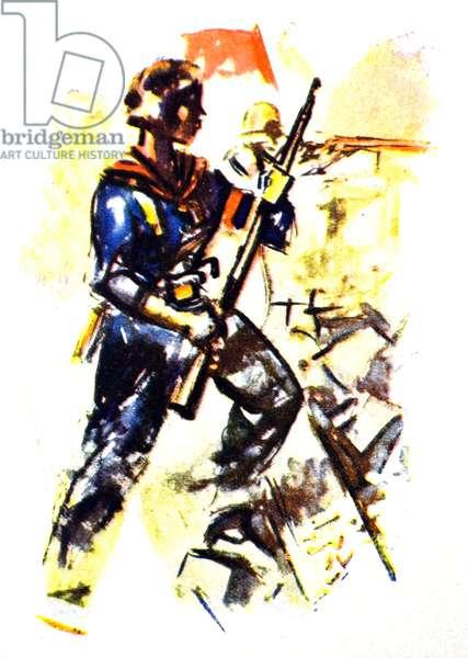 Female Republican militia soldier during the Spanish Civil War