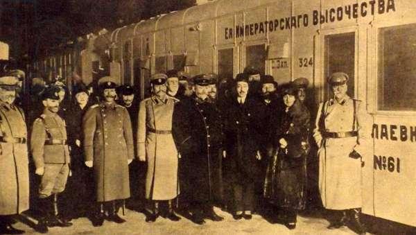 Russian Red cross train leaving St Petersberg