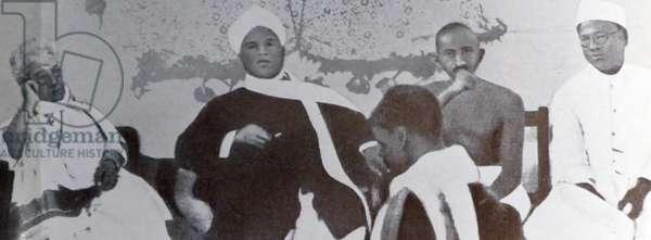 Mohandas Karamchand Gandhi With Annie Besant