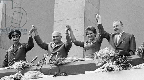 Soviet Cosmonauts Greet Residents Of Sofia