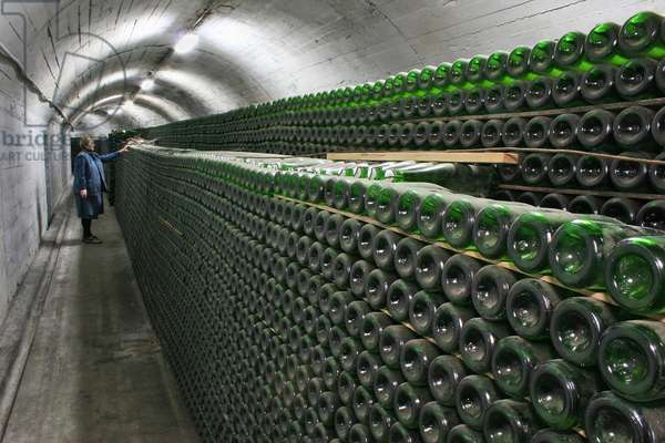 The Wine Storage At The Novy Svet Champagne House In Crimea
