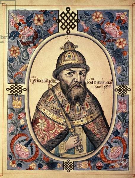 Portrait of Ivan Grozny (Ivan the Terrible, Ivan Iv).