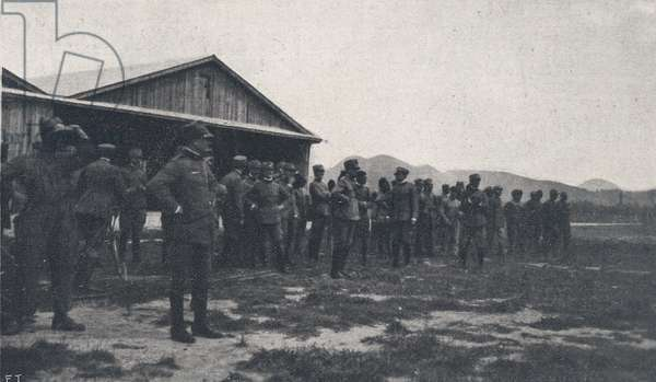WWI 9 August 1918-The squadron 'Serenissima' the companions await eager squad from Wien