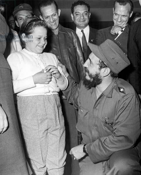 Rebel Leader Fidel Castro (b/w photo)
