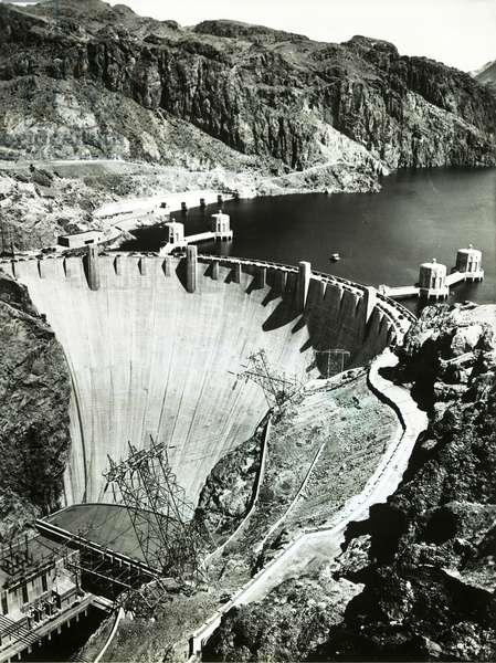 Hoover Dam 1936, Arizona, Nevada (b/w photo)