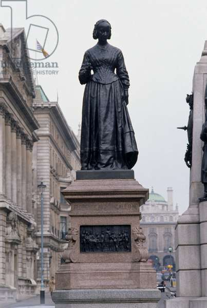 Great Britain, England, London, City of Westminster, Waterloo Place, statue of Florence Nightingale