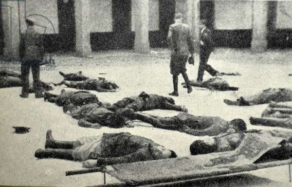 Spanish Civil War: 19th July 1936, Republican casualties after the capture of the mountain headquarters near Madrid by nationalist forces