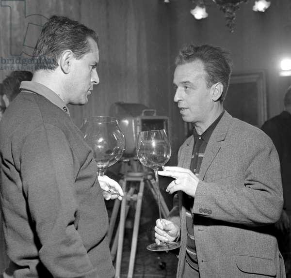 Film Directors Milos Forman (Left) And Janos Kadar Meet At The 15Th Carlsbad International Film Festival On June 21St, 1966
