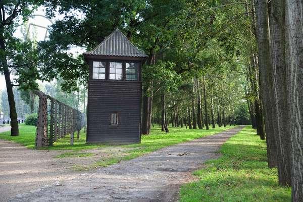 Watchtower on the Perimeter of the Men's Barracks, Auschwitz-Birkenau Concentration Camp, Oswiecim, Malopolska, Poland (photo)
