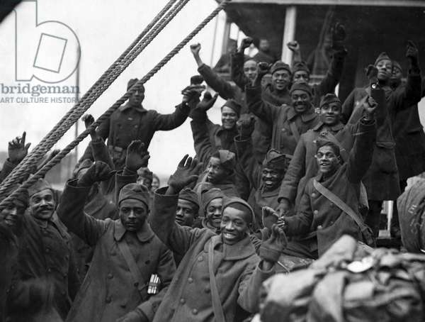 African American Infantry (b/w photo)