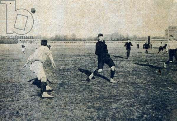 Vintage football match, France