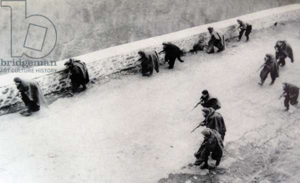 Spanish Foreign legion in action on the Nationalist side during the Spanish Civil War 1936