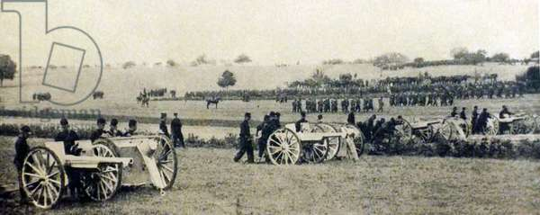French artillery guns in place