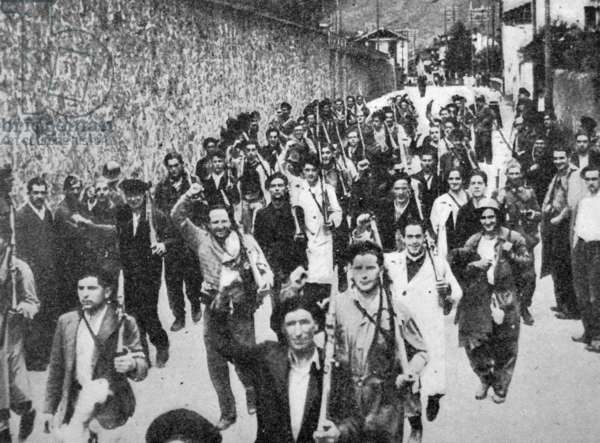 Spanish civil war: triumphant militia (Nationalist)