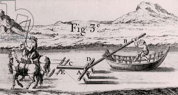 Plough used to deepen navigable rivers and canals