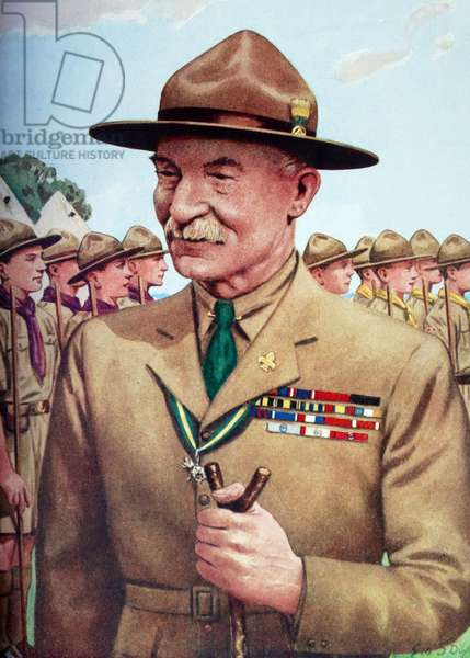Lord Baden-Powell of Gilwell (1857-1941), founder of the Boy Scout Movement .