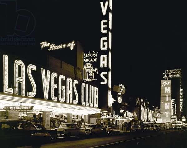 The Las Vegas Strip (b/w photo)