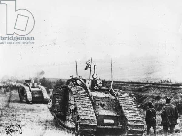 301st Tank Battalion, 1918 (b/w photo)