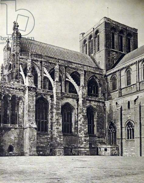 Photographic print showing the exterior of Winchester Cathedral