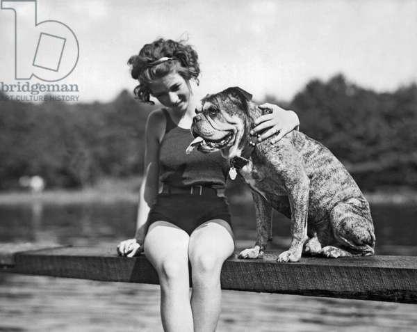 A Beauty & The Beast, United States, c.1928 (b/w photo)