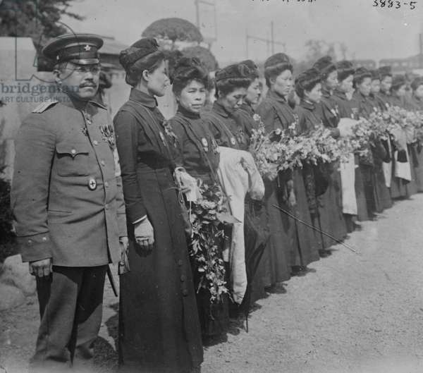 Japanese Red Cross returned from Russia 1919 (photo)