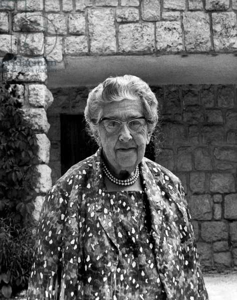 Mystery Writer Agatha Christie (b/w photo)