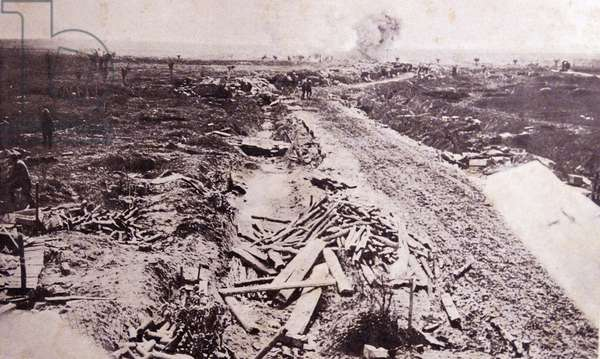 A battlefront during World war One 1916