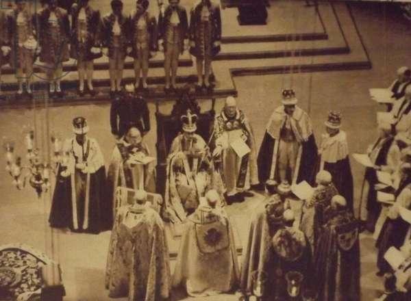 Archbishop of Canterbury, crowns King George VI; London, 1937, 1937